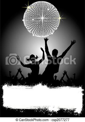 fête, disco, affiche, - - csp2077277