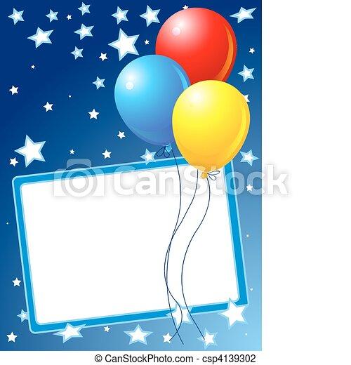 fête, fond, ballons - csp4139302