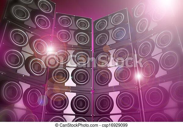 fête, fond, disco - csp16929099
