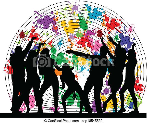 fête, fond, grunge, - - csp18545532