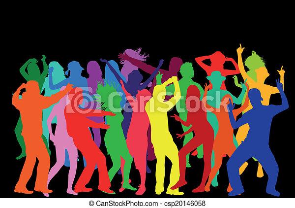 fête, gens - csp20146058