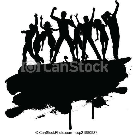 fête, gens, grunge, 3103 - csp21880837