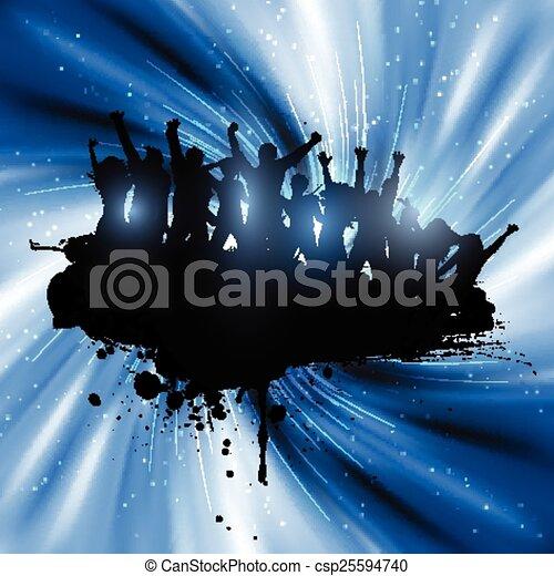 fête, grunge, 3001, gens - csp25594740