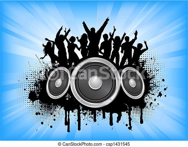fête, grunge - csp1431545