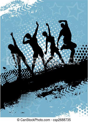 fête, grunge - csp2688735