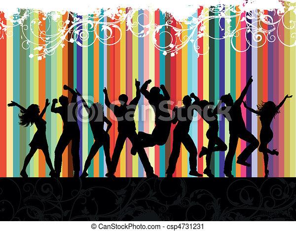 fête, grunge - csp4731231