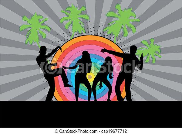 fête, -, grunge, fond - csp19677712