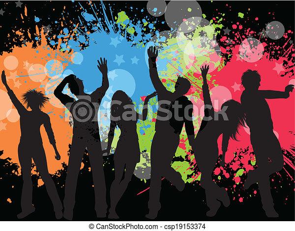 fête, grunge, fond - csp19153374