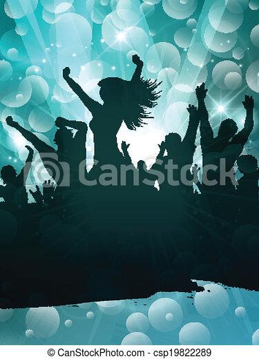 fête, grunge, gens arrière-plan - csp19822289