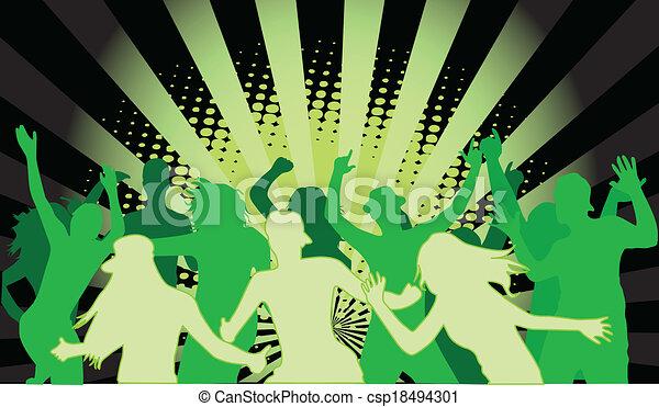 fête, grunge, gens - csp18494301