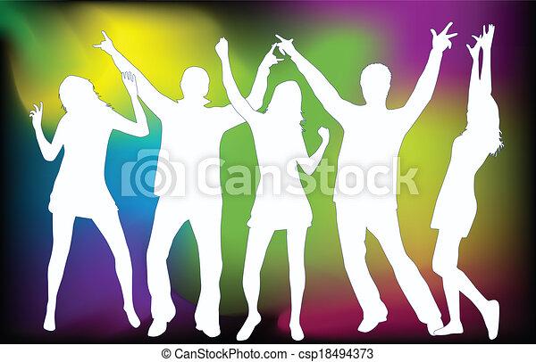 fête, grunge, gens - csp18494373