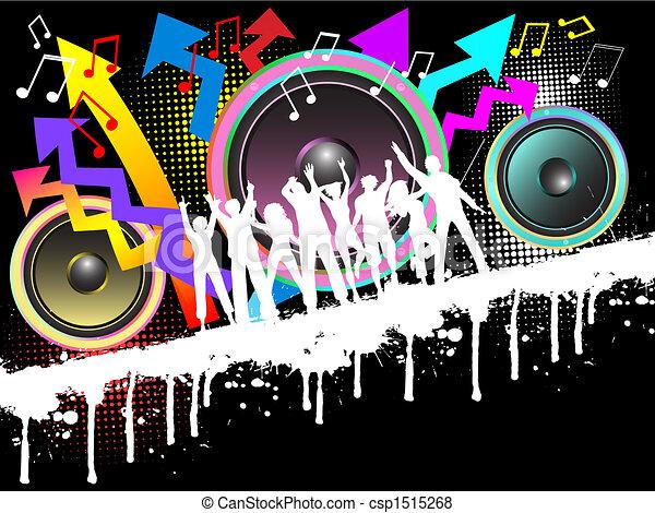 fête, grunge - csp1515268