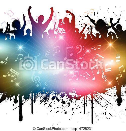 fête, grunge - csp14725231