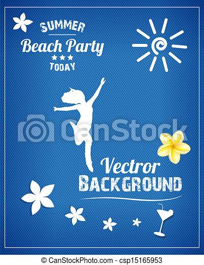 fête, plage - csp15165953