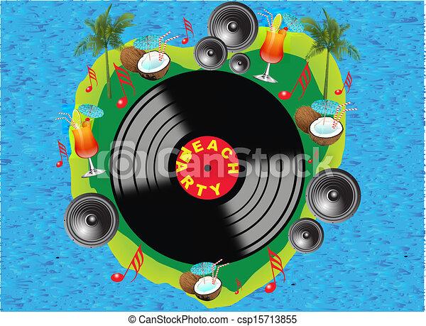 fête, plage - csp15713855