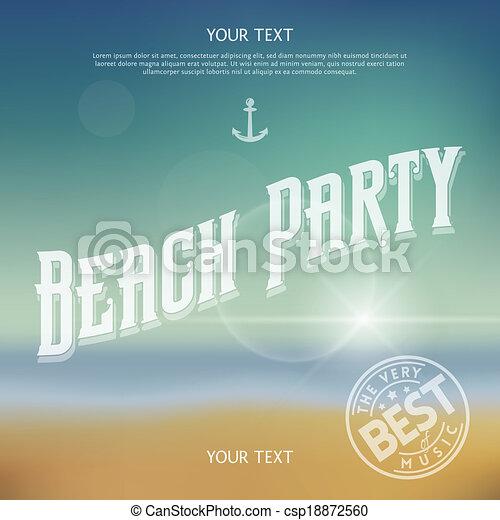 fête, plage - csp18872560