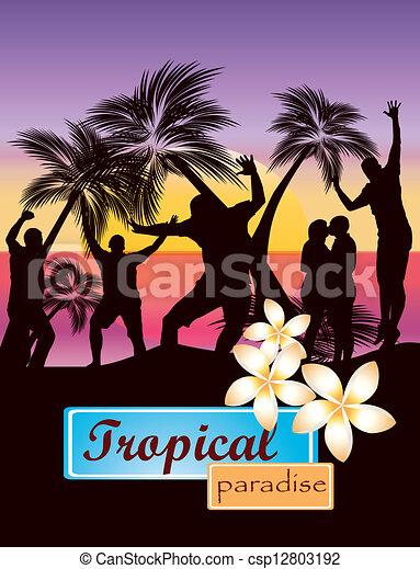 fête, plage - csp12803192