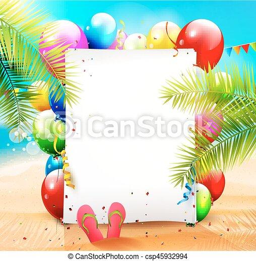 fête, plage - csp45932994