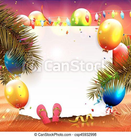 fête, plage - csp45932998