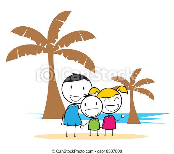 fête, plage, enfants - csp10507800