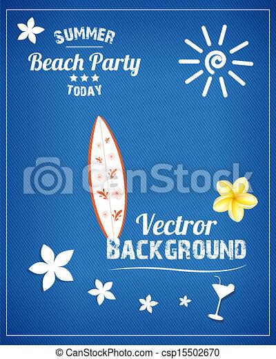 fête, plage - csp15502670