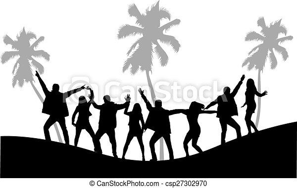 fête, plage - csp27302970