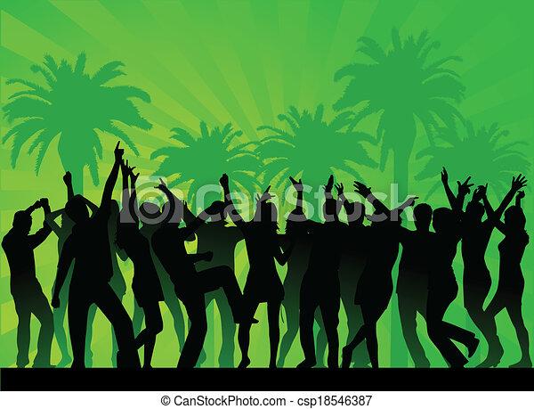 fête, plage - csp18546387