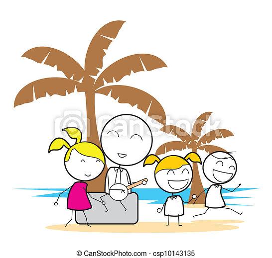 fête, plage - csp10143135