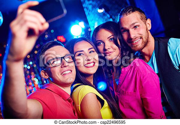 fête, selfie - csp22496595