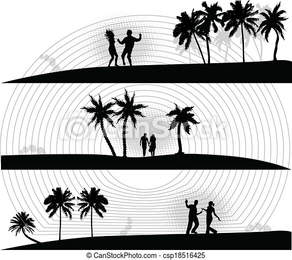 fête, vacances, plage - csp18516425