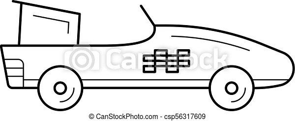 Fórmula 1 icono de línea de autos. - csp56317609