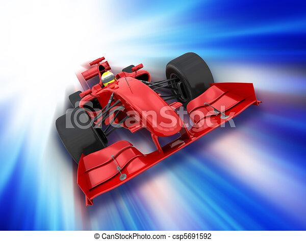 Fórmula un auto - csp5691592