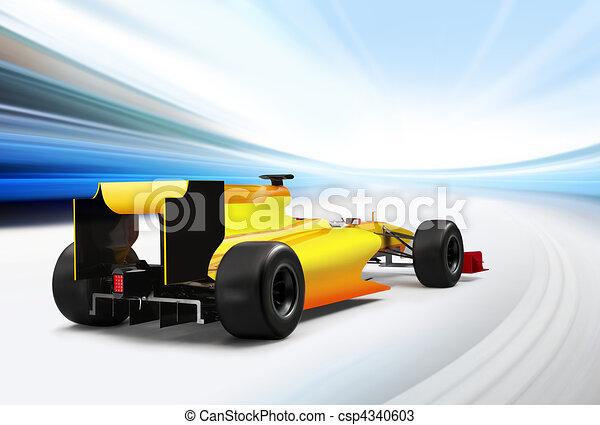 Fórmula un auto - csp4340603