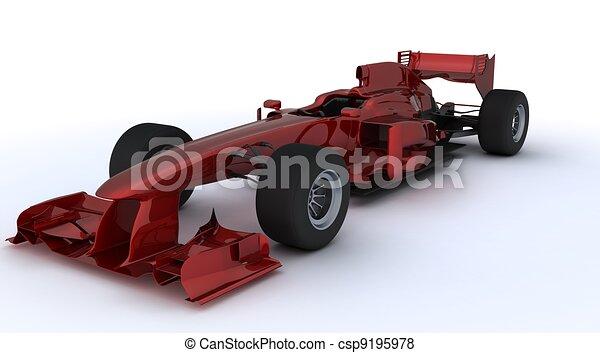 Fórmula un auto - csp9195978