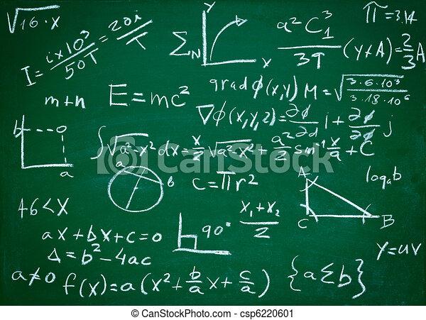 Fórmulas matemáticas en educación de pizarra escolar - csp6220601