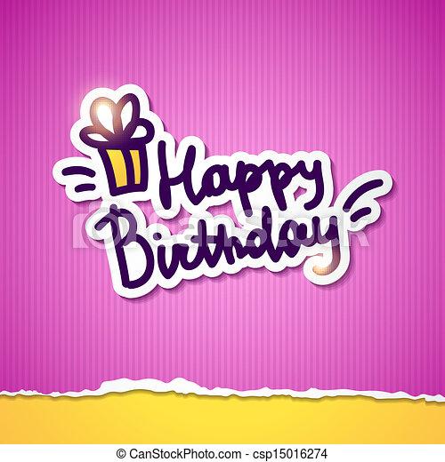 födelsedag, lycklig - csp15016274
