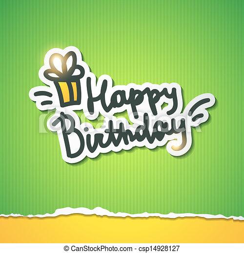 födelsedag, lycklig - csp14928127