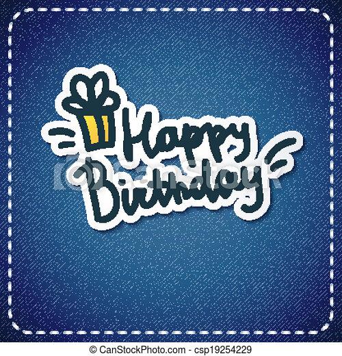 födelsedag, lycklig - csp19254229