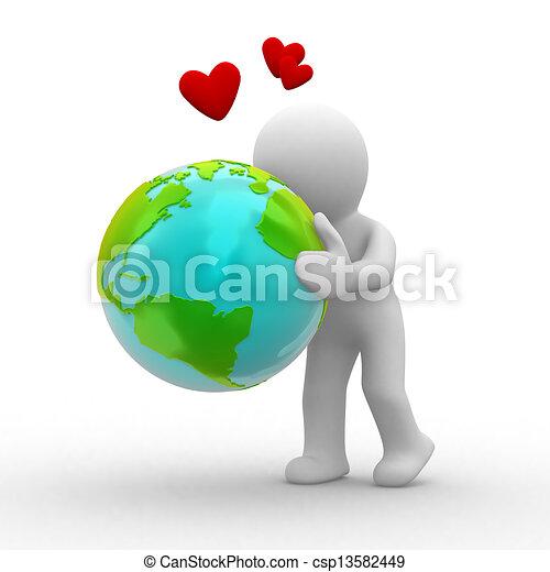 földdel feltölt, szeret - csp13582449