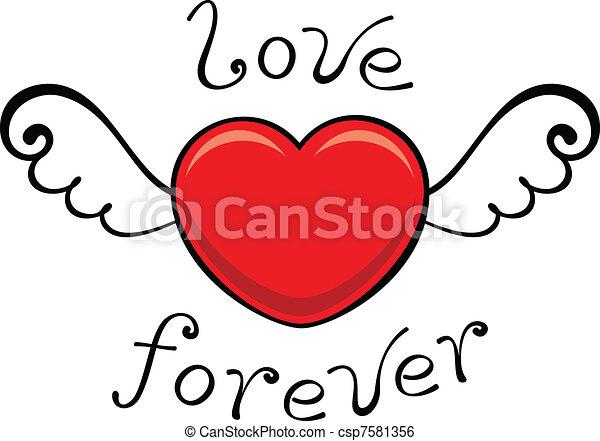 för alltid, kärlek - csp7581356