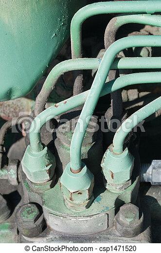 fördelare, grön, traktor, enhet - csp1471520