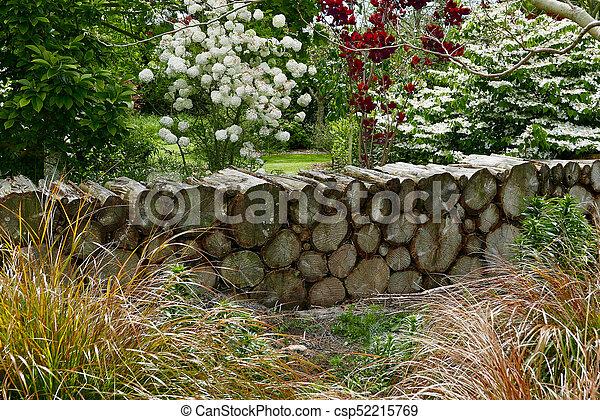 Formlichkeit Holz Kleingarten Zaun Holzstamm Fruehjahr Holz