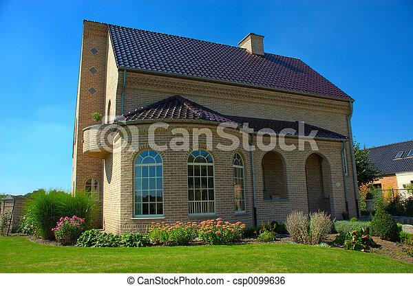 förorts-, house. - csp0099636