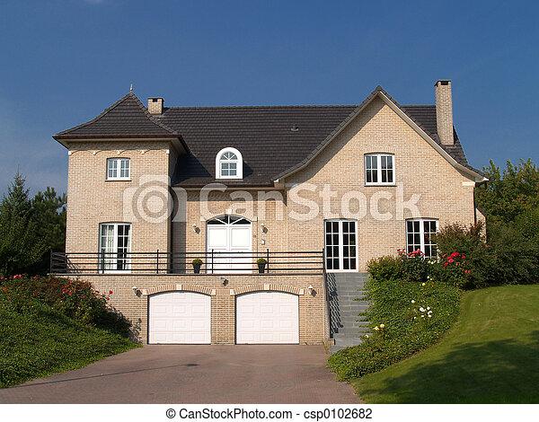 förorts-, house. - csp0102682
