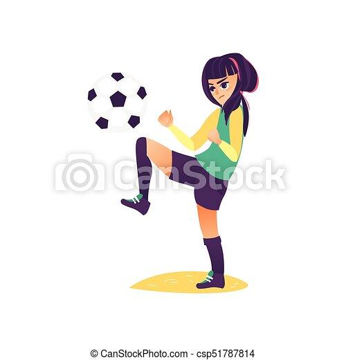 Caricatura Jugar Futbol