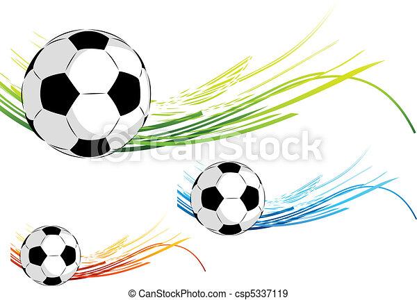 Color, fútbol, líneas.
