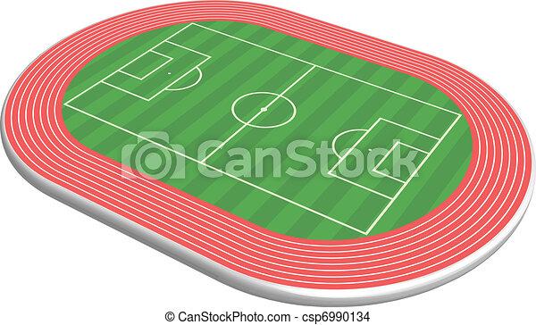 Campo de fútbol tridimensional - csp6990134