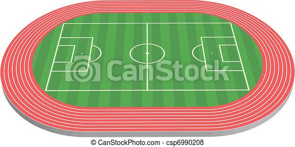 Campo de fútbol tridimensional - csp6990208