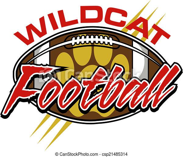 Diseño de fútbol Wildcat con pelota - csp21485314