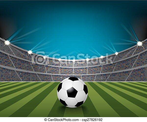 El estadio del fútbol - csp27826192